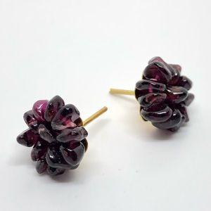 Jewelry - Amethyst Chip Stud Earrings